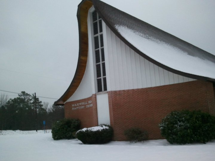 church outside snow